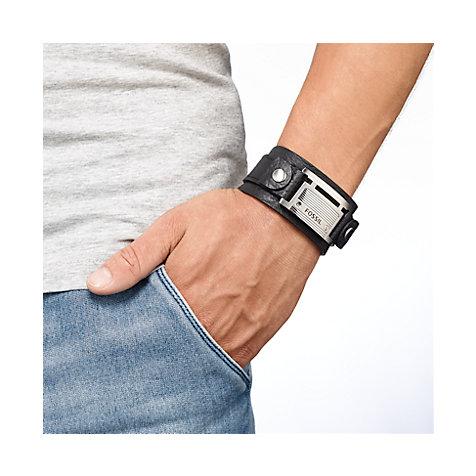 Fossil armband herren leder schwarz