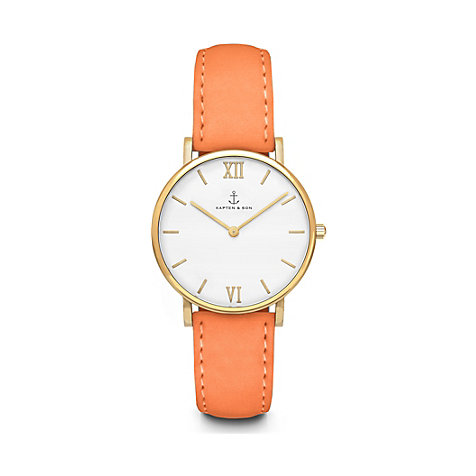 Kapten & Son Damenuhr Joy Peach Velvet Leather CC09A0511C21A