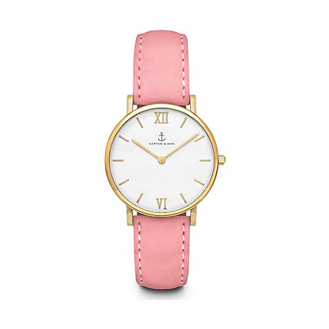 Kapten & Son Damenuhr Joy Rose Velvet Leather CC09A0531C21A