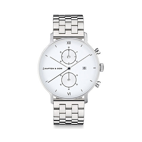 Kapten & Son Unisexuhr Chrono Silver Steel CD03A0826F01A