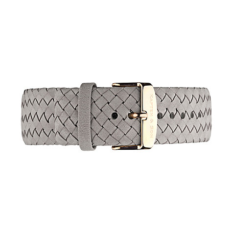 Kapten & Son Lederband Grey Woven Campus 20 mm
