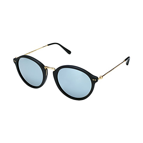 Kapten & Son Sonnenbrille Maui Matt Black Blue Mirrored Glass KS03-BKM-BMG