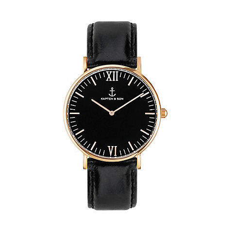 Kapten & Son Uhr Campina/Campus All Black RG Leather