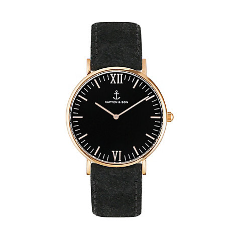 Kapten & Son Uhr Campina/Campus All Black RG Vintage