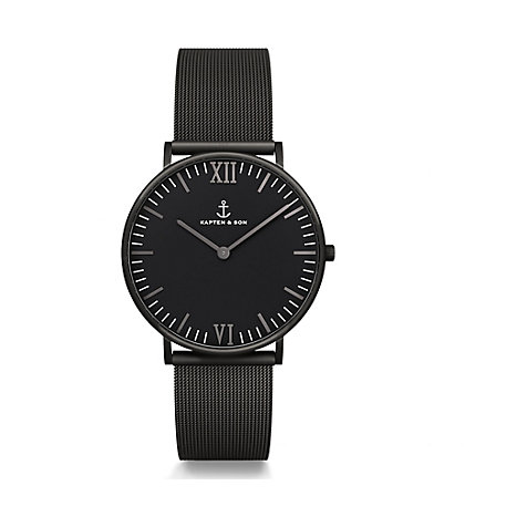 Kapten & Son Uhr Campina/Campus Black Midnight Mesh