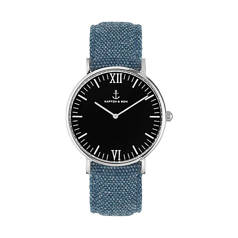 Kapten & Son Uhr Campina/Campus Black Silver Blue Canvas CA03B0608D11A