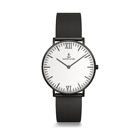 Kapten & Son Uhr Campina/Campus Midnight Mesh