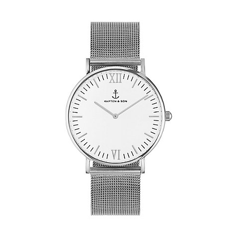 Kapten & Son Uhr Campina/Campus White Silver Mesh CA03A0726D11A