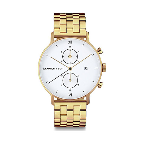 Kapten & Son Chronograph Gold Steel CD09A0840F12A
