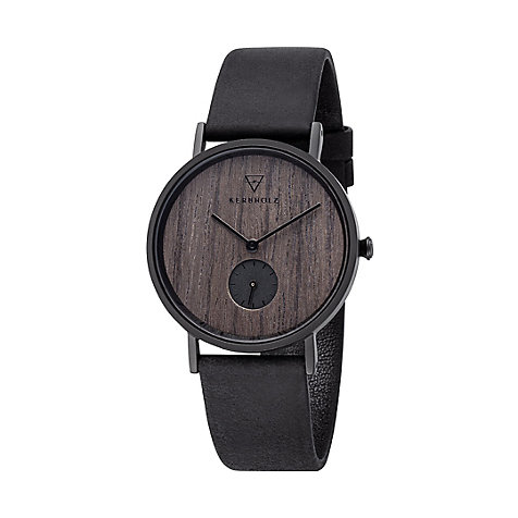 Kerbholz Damenuhr Frida Darkwood Midnight Black WATMFRI9436