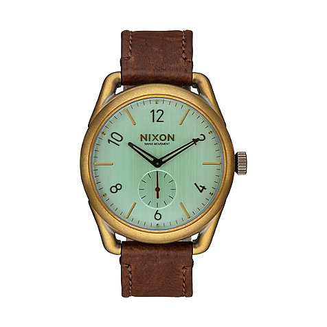 Nixon Damenuhr C39 Leather Brass A459 2223
