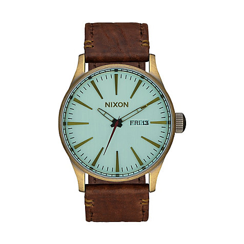 Nixon Herrenuhr Sentry Leather Brass A105 2223