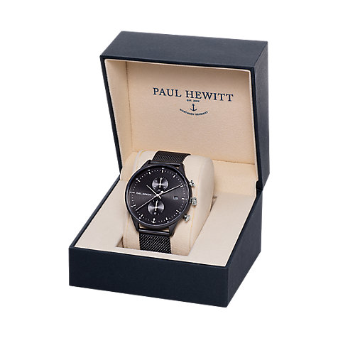 Paul Hewitt Herrenuhr Chrono Line Black Sunray PH-C-B-BSS-5M