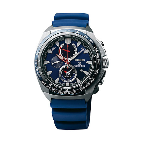 Seiko Herrenchronograph Prospex Solar World Time SSC489P1