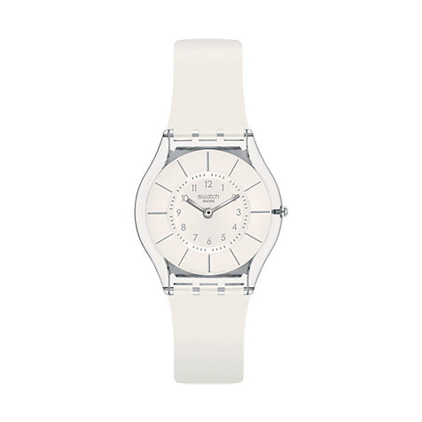 Swatch Damenuhr White Classiness SFK360