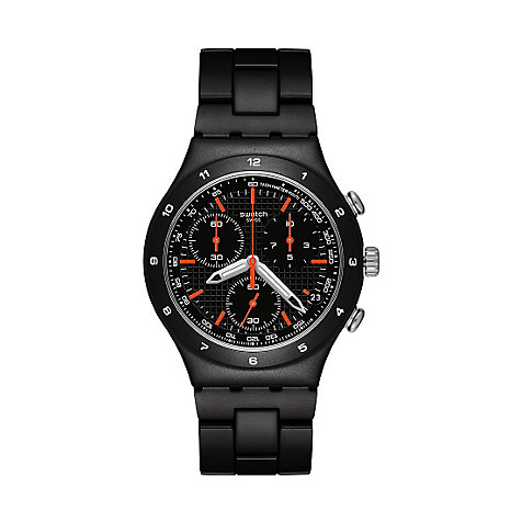 Swatch Herrenchronograph Black Coat YCB4019AG