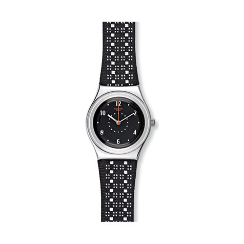 Swatch Herrenuhr Black Puncher YLS184