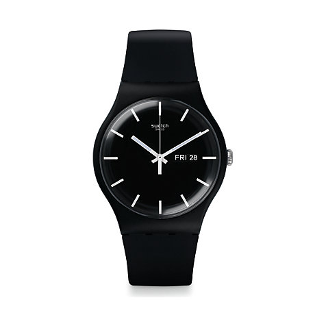 Swatch Herrenuhr Mono Black SUOB720