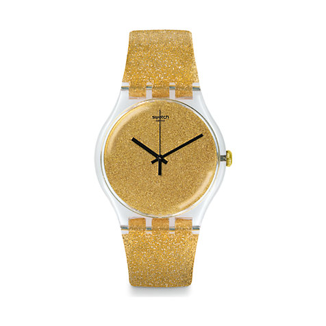 Swatch Herrenuhr Nuit Doree SUOK122
