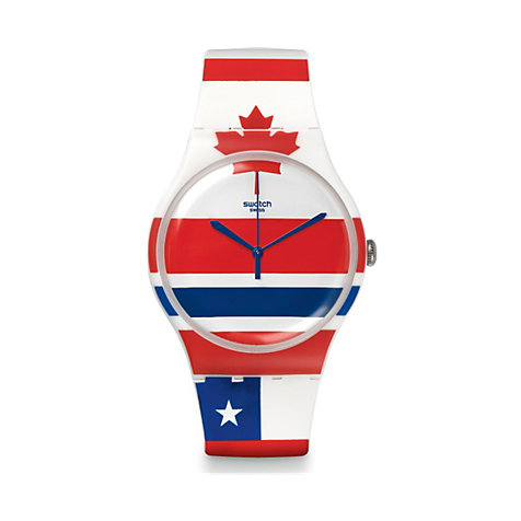 Swatch Unisexuhr Flagtime SUOW111