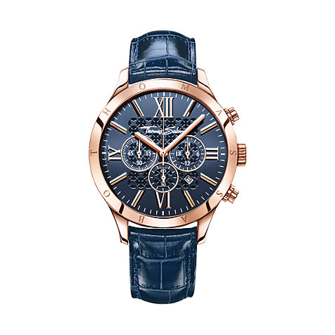 THOMAS SABO Chronograph WA0211-270-209-43 mm blau