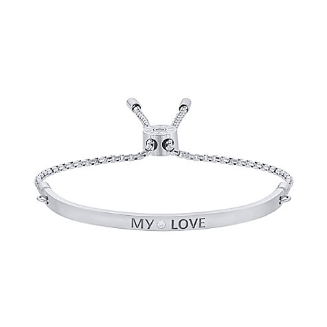 JETTE Silver Armband My Love 86952696