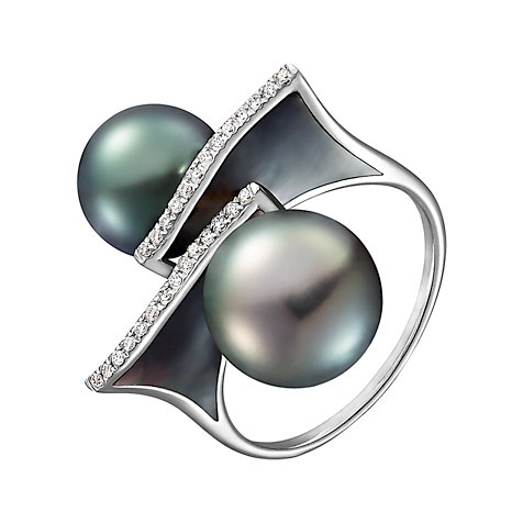 CHRIST Pearls Damenring 87306267