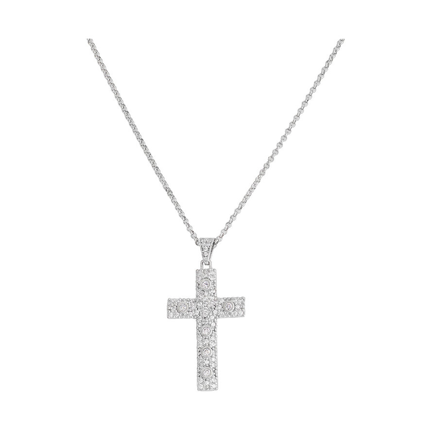 Amen Kedja Cross CCZBB 925 Silver