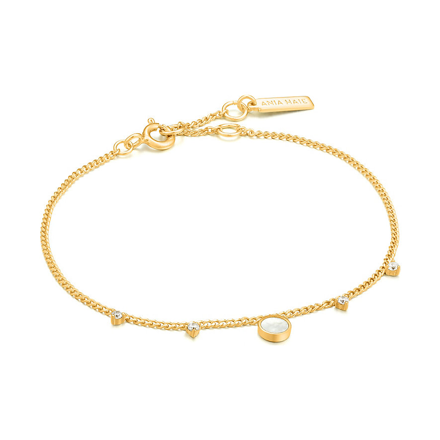 Ania Haie Armband Mother Of Pearl Drop Disc B022-03G