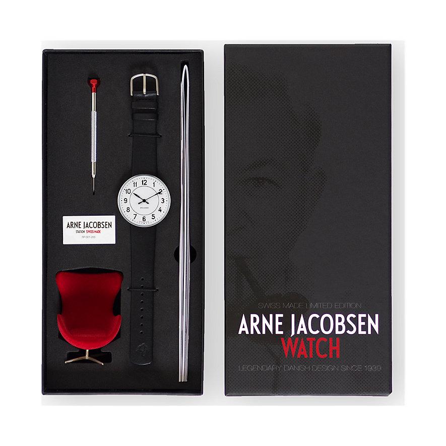 Arne Jacobsen Herrenuhr Swiss 57402-181