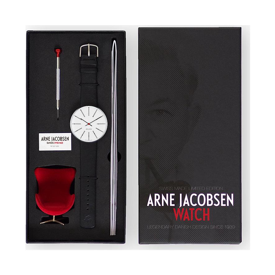 Arne Jacobsen Unisexuhr Bankers 57103-201