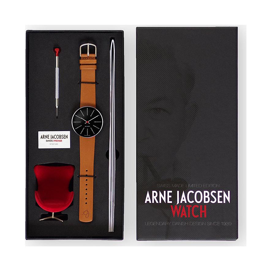 Arne Jacobsen Unisexuhr Bankers 57105-1897
