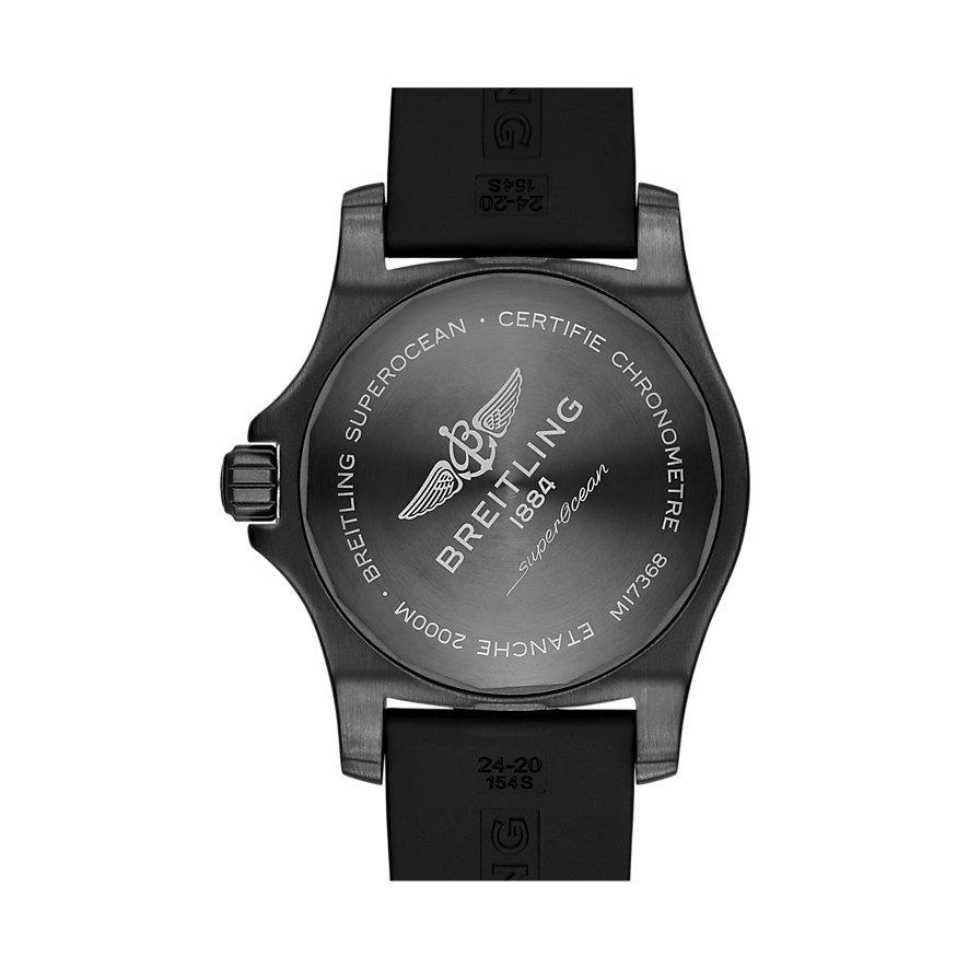Breitling Herrenuhr Superocean Automatic 46 Black Steel M17368D71I1S1