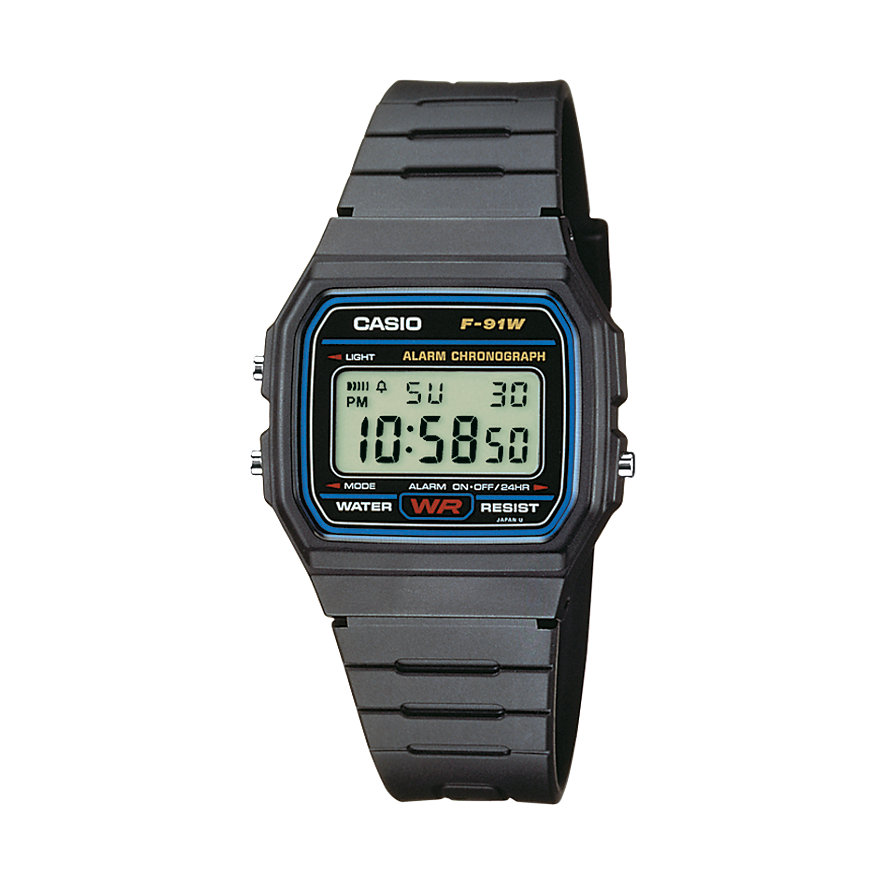 Casio Collection Unisexuhr F-91W-1YEF