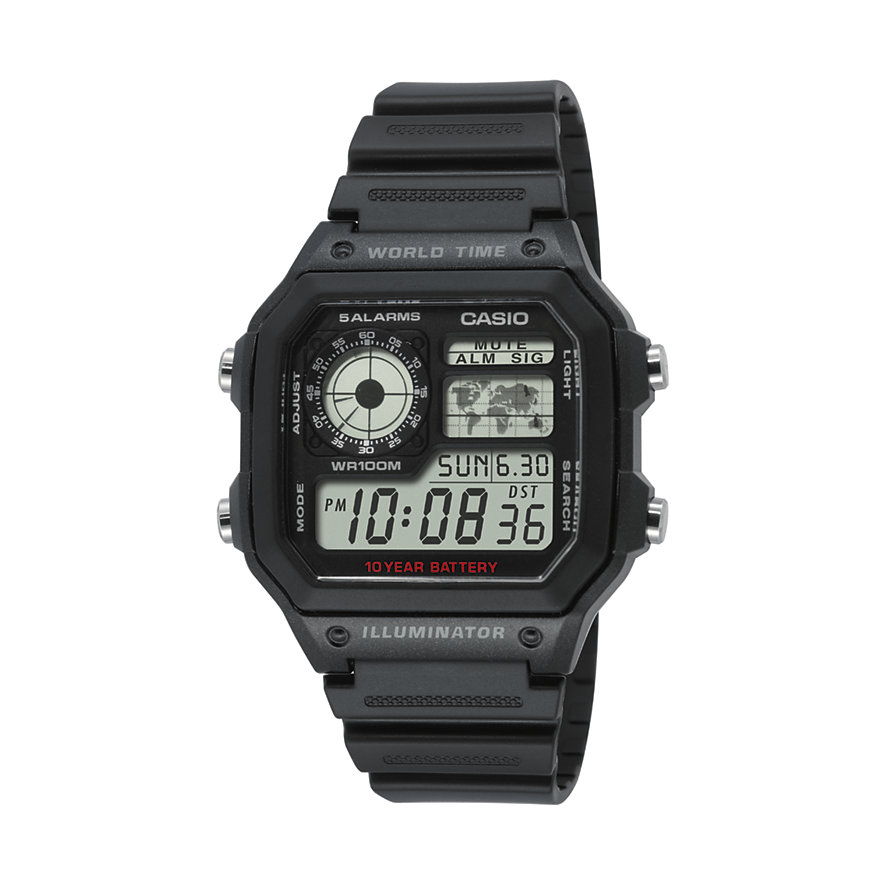 Casio Herrenuhr Casio Collection AE-1200WH-1AVEF