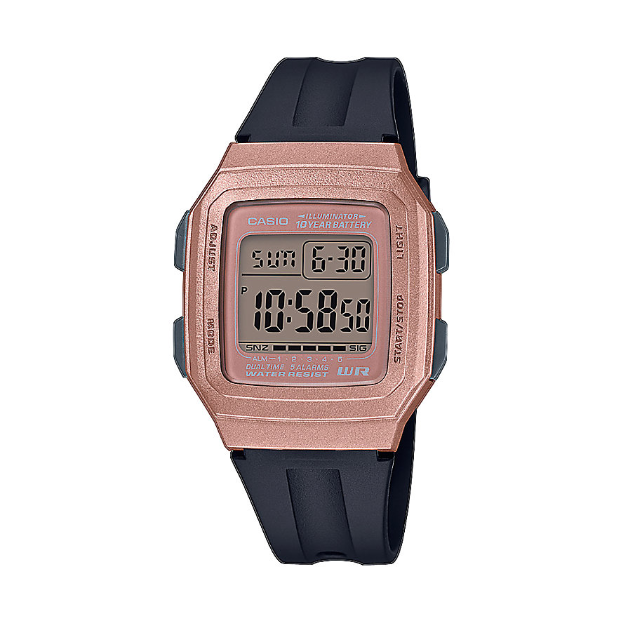 Casio Herrenuhr Casio Collection F-201WAM-5AVEF