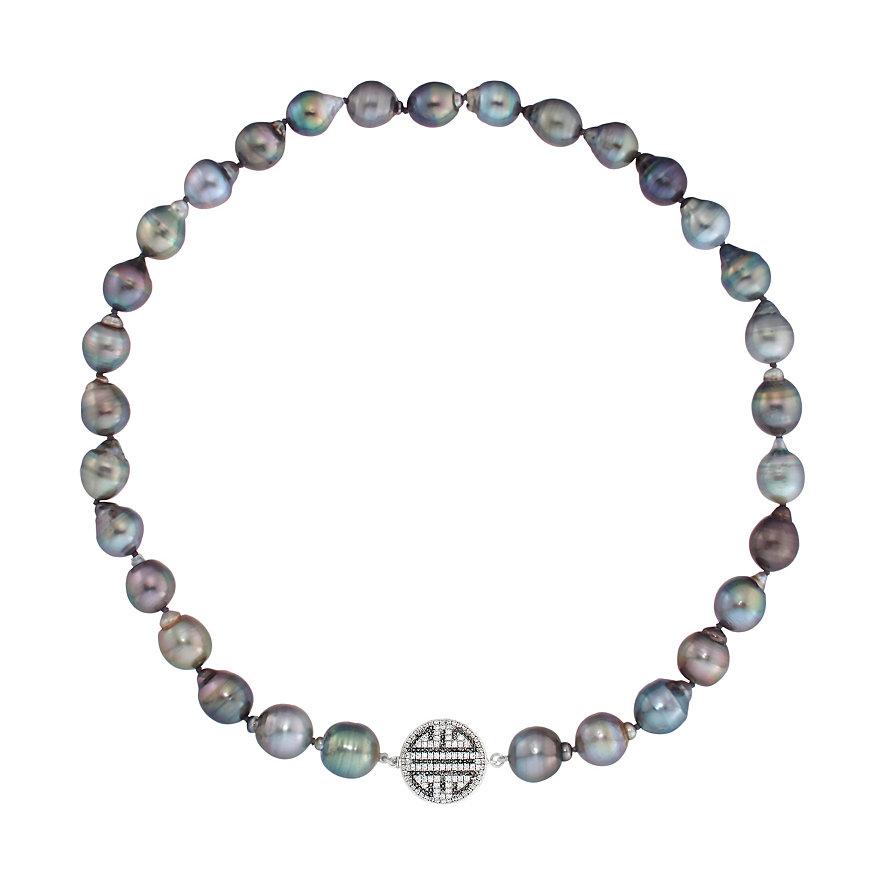 CHRIST Pearls Kette Perlschmuck 10-12mm 86701243
