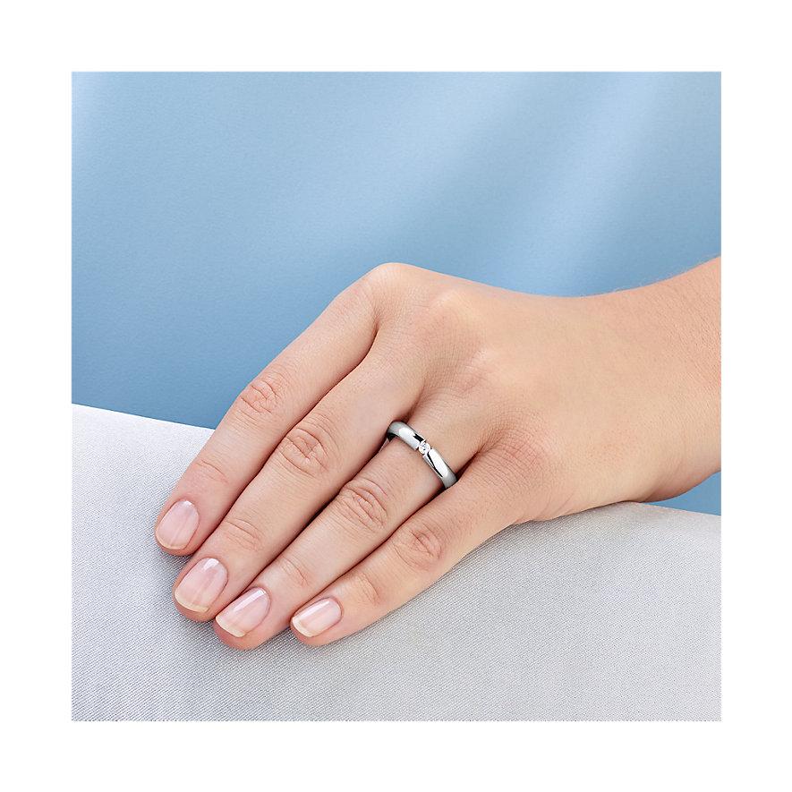 CHRIST Silver Diamonds Damenring 60052336
