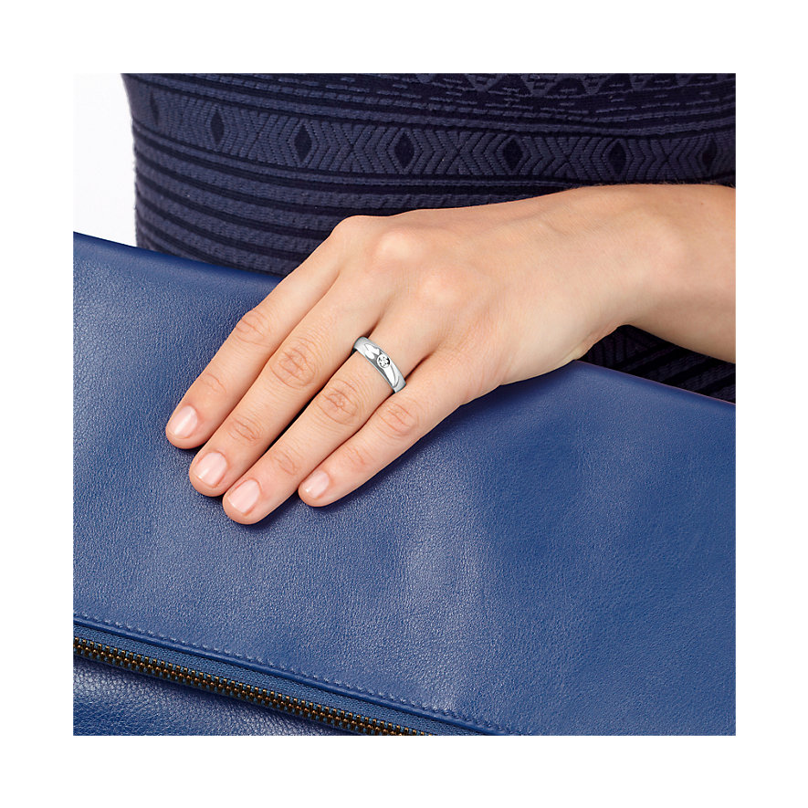 CHRIST Silver Diamonds Damenring 60060355