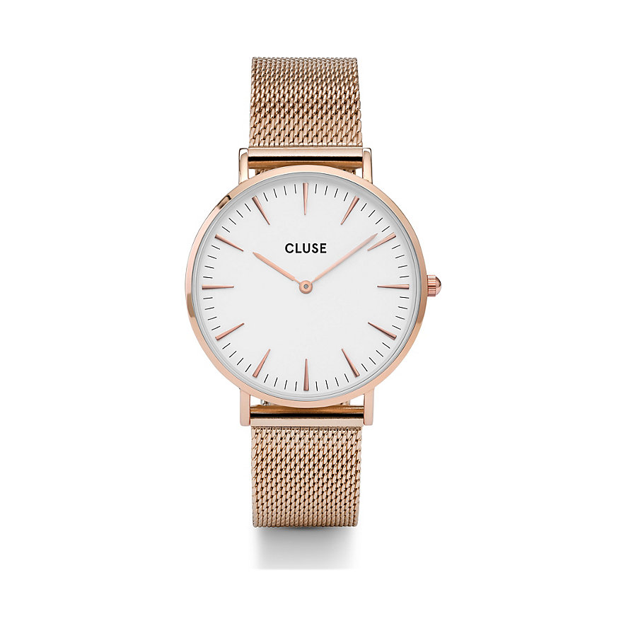Cluse Damenuhr  Boho Chic Mesh Rose Gold/White CW0101201001