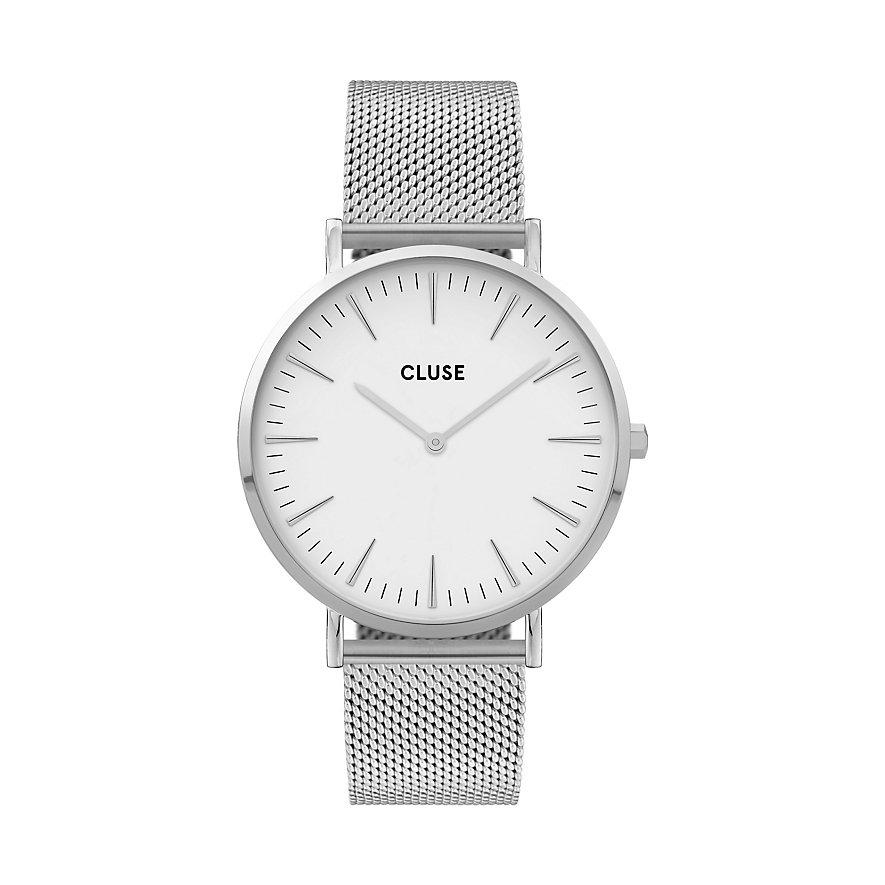 Cluse Damenuhr  Boho Chic Mesh Silver/White CL18105