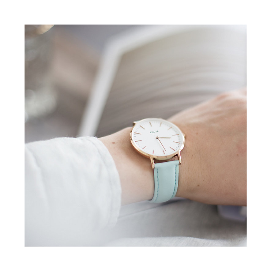 Cluse Damenuhr  Boho Chic Rose Gold White/Past CL18021
