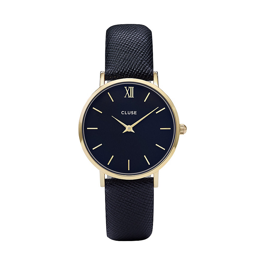 Cluse Damenuhr Minuit Gold/midnight CL30014