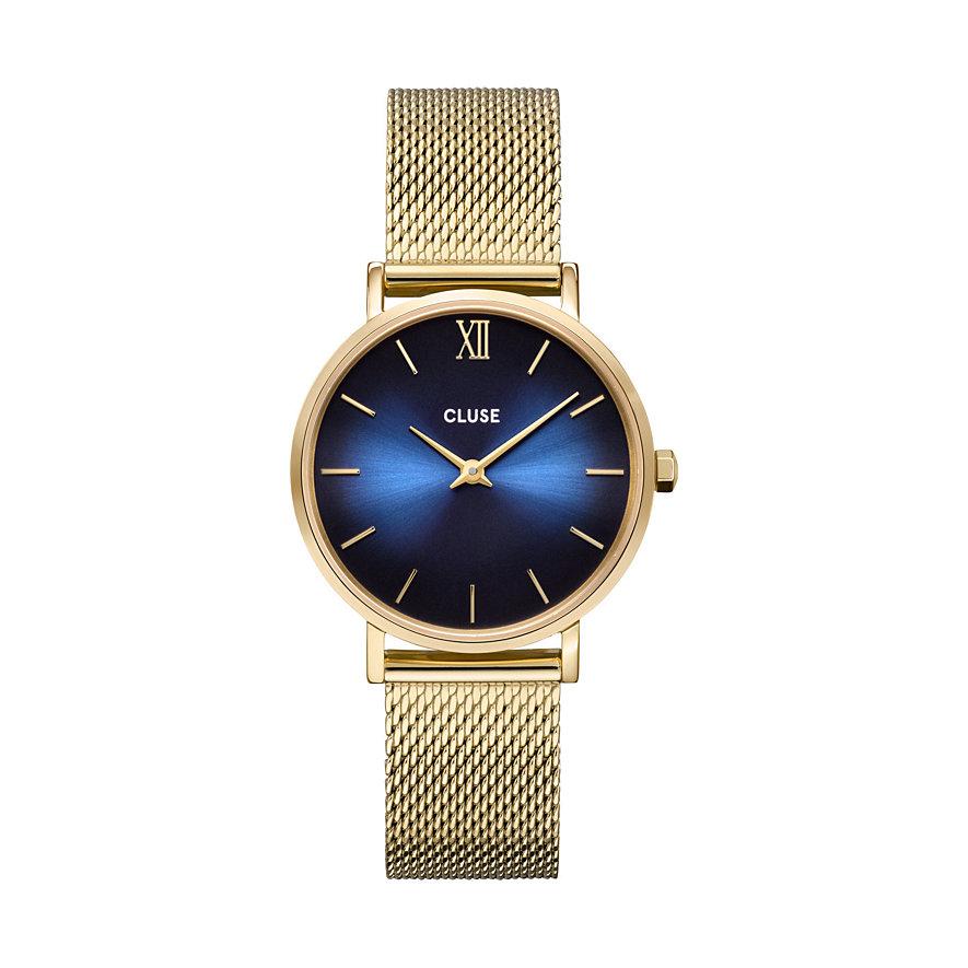 Cluse Damenuhr Minuit Mesh, Gold, Blue Fumé/ CW10202