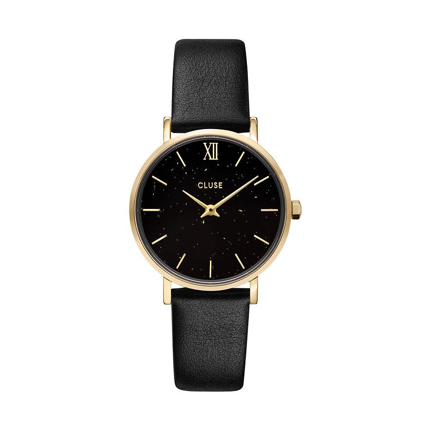 Cluse Damenuhr Minuit Special Mesh, Gold, Bla CG10201