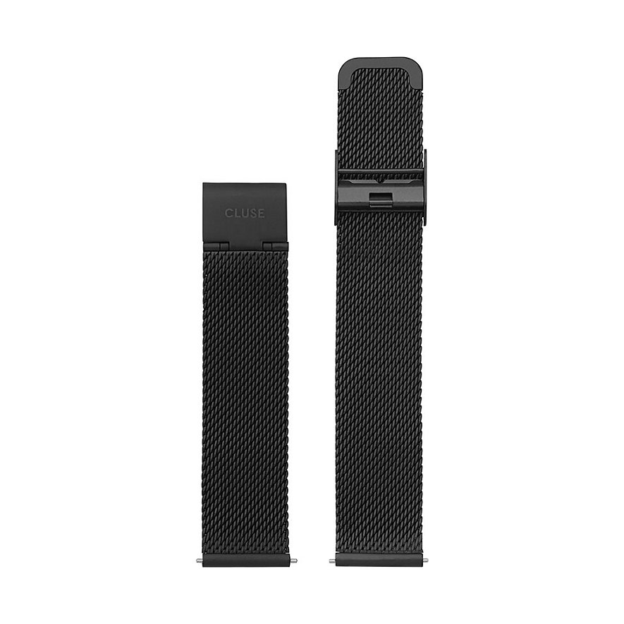 Cluse Metallband Minuit Strap Mesh Black CLS348