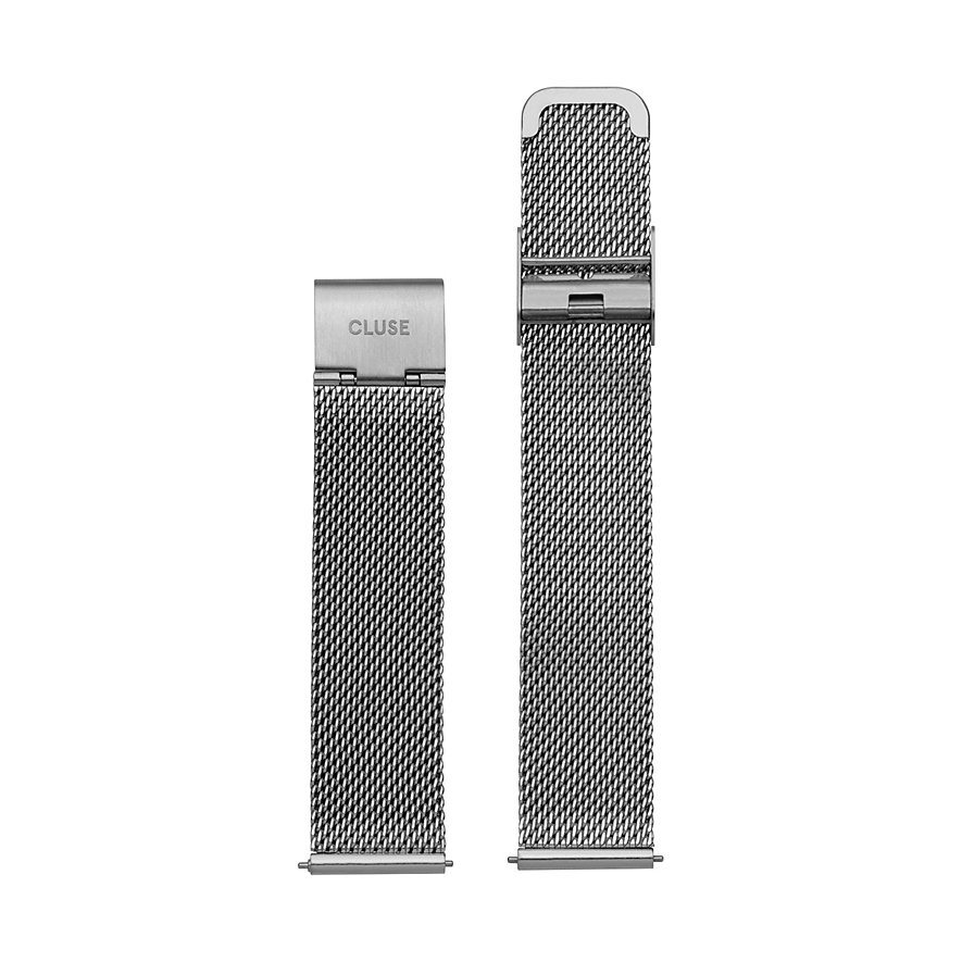 Cluse Metallband Minuit Strap Mesh Silver CLS345