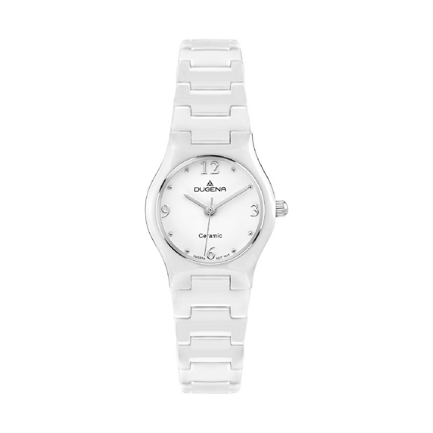 Dugena Basic Damenuhr 4460508 Keramik weiß