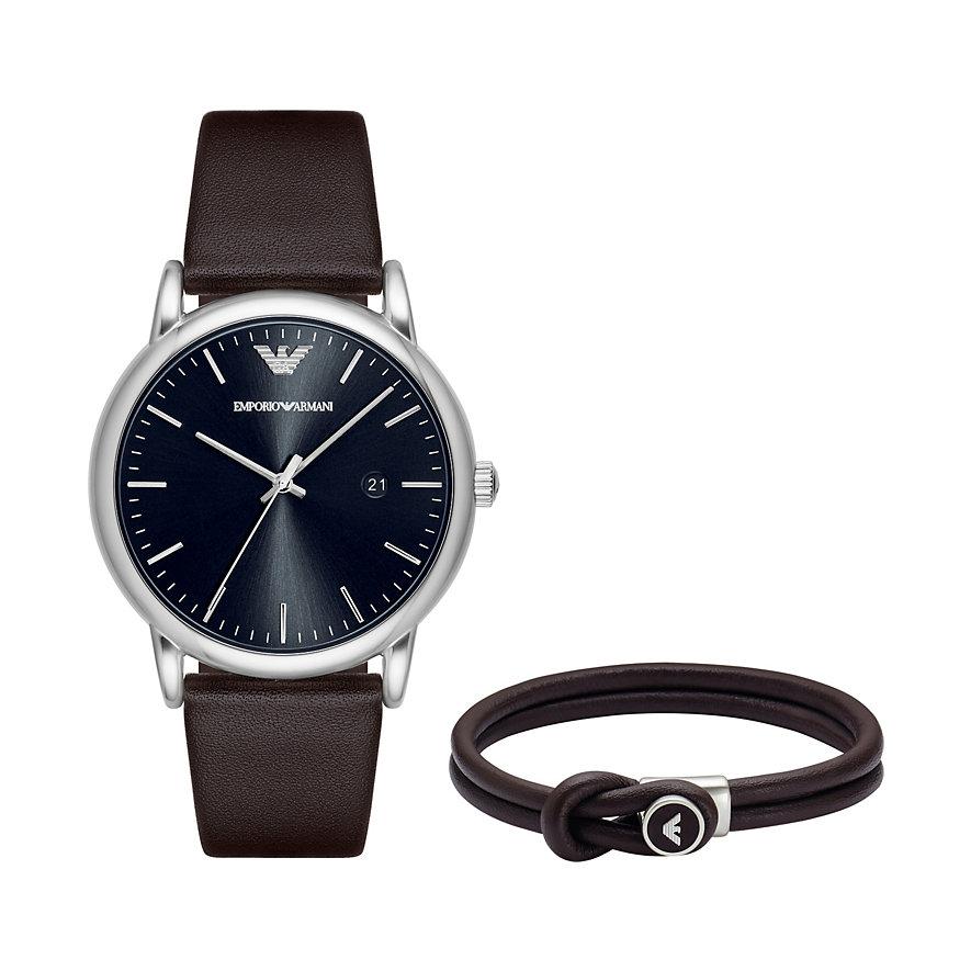 Emporio Armani Set Herrenuhr + Armband AR80008