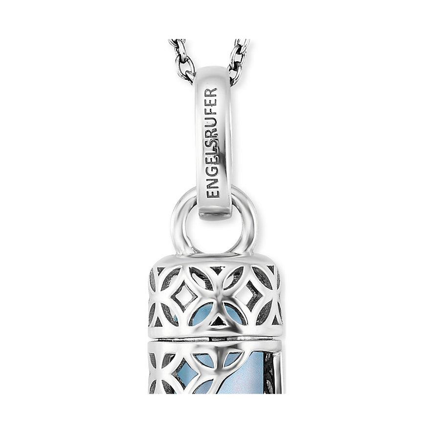 Engelsrufer Kette Powerful Stone Blauer Achat Silber